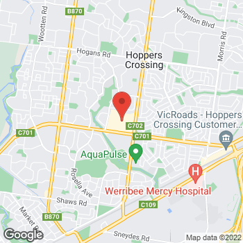 Map of STA Travel at Corner Derrimut and Heaths Roads, Werribee, VIC 3030