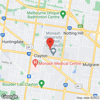 Map of STA Travel at Monash University, Clayton, VIC 3800