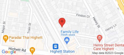 Location map for 1/26 Railway Parade Highett
