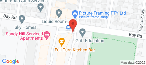 Location map for 122/220 Bay Road Sandringham