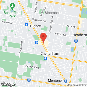Map of STA Travel at Shop 3030, Westfield Southland Shopping Centre, Cheltenham, Southland, VIC 3192