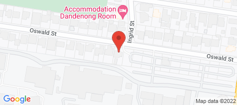 Location map for 30 Oswald Street Dandenong