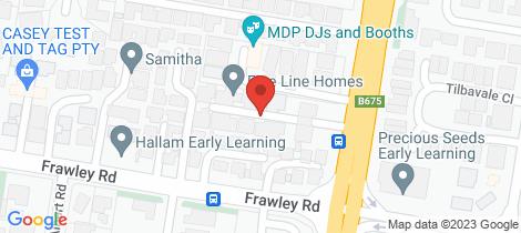 Location map for 1/35-37 Belgrave-Hallam Road Hallam