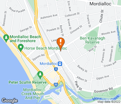 Map of McDonald Street Medical Centre in Mordialloc