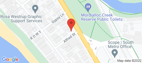 Location map for 1 Alfred Street Aspendale