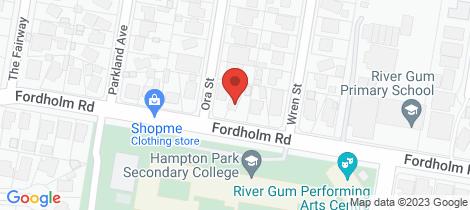 Location map for 85 Fordholm Rd Hampton Park