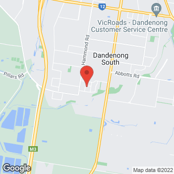 Map of O'Brien® Glass Melbourne at 11 Luisa Ave, Dandenong South, VIC 3175