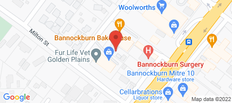 Location map for 13 Burns Street Bannockburn