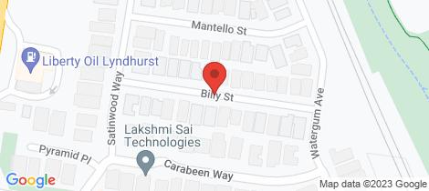 Location map for 6 Billy Street Lyndhurst