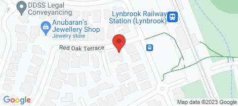 Location map for 3 Red Oak Terrace Lyndhurst