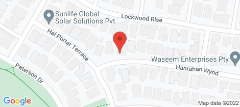 Location map for 6 Hanrahan Wynd Lynbrook