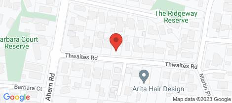 Location map for A/11a Thwaites Road Pakenham
