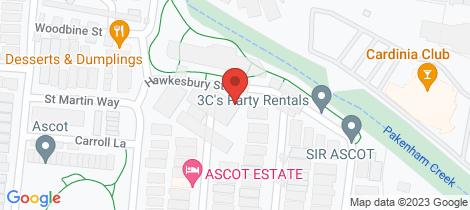 Location map for 24 Hawkesbury St Pakenham
