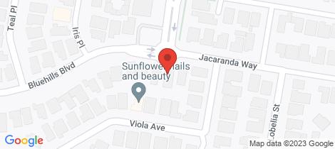 Location map for 13 Bluehills Boulevard Pakenham