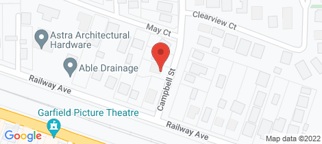 Location map for 1 Campbell Street Garfield