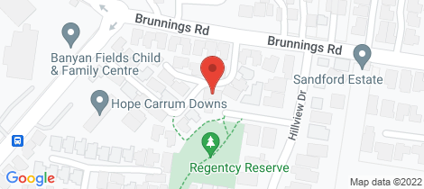 Location map for 8 Regency Court Carrum Downs