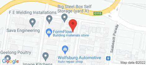 Location map for 25 Seaforth Street North Shore