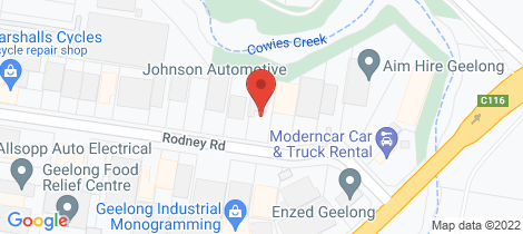 Location map for 23 Rodney Road North Geelong