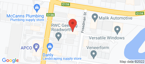 Location map for 8 Freedman Street North Geelong