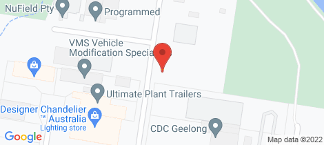 Location map for 1/20-22 Saunders Street North Geelong