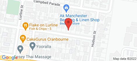 Location map for 29 Bruce St Cranbourne