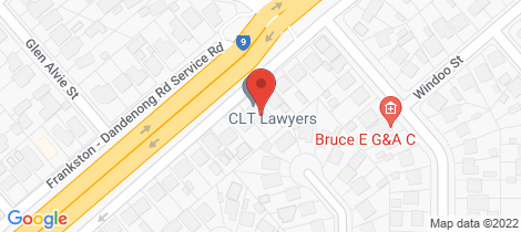 Location map for 325 Frankston Dandenong Road Frankston North