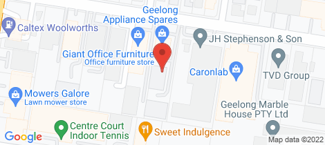 Location map for 2/156 Victoria Street North Geelong