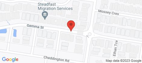 Location map for 1 Gemma Street Cranbourne East