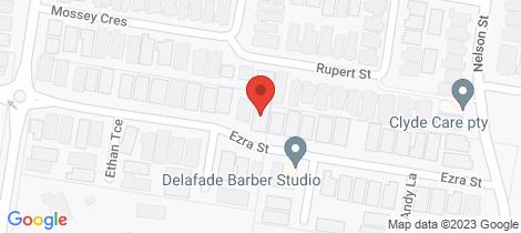 Location map for Lot 95/20 Ezra St Cranbourne East