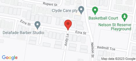 Location map for Lot 125/19 Ezra St Cranbourne East