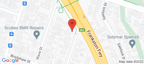 Location map for 23 Spray Street Frankston