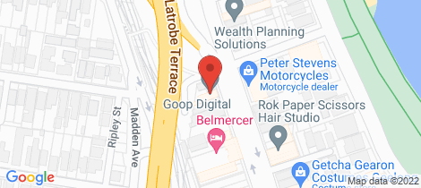 Location map for 1 & 2b/2-4 Mercer Street Geelong