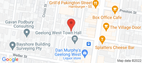 Location map for 10-14 Albert Street Geelong West