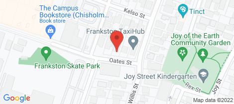 Location map for 24 Oates Street Frankston