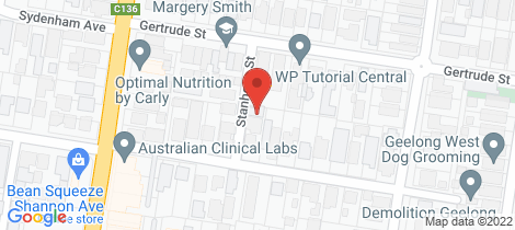 Location map for 9 Stanhope Street Geelong West