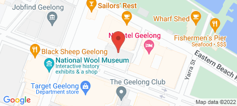 Location map for 12/61 Brougham Street Geelong