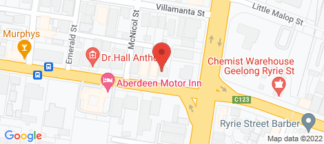 Location map for 2 Aberdeen Street Geelong West