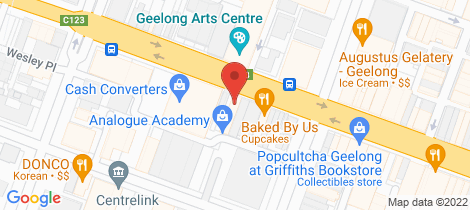 Location map for 64-66 Ryrie Street Geelong