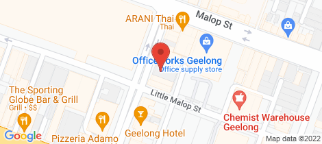 Location map for Level 1, 51 Yarra Street Geelong