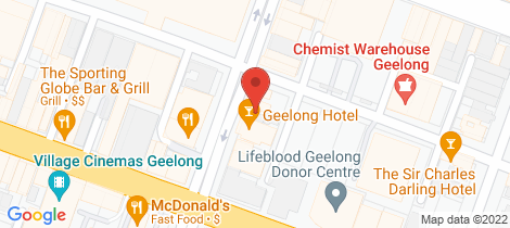 Location map for 65 Yarra Street Geelong