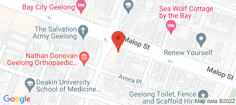 Location map for 244 Malop Street Geelong