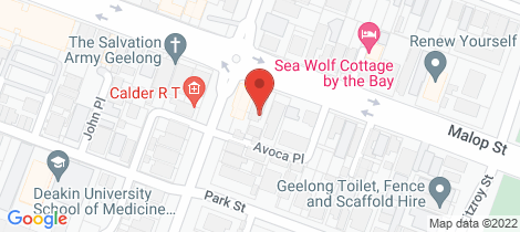 Location map for 246 Malop Street Geelong