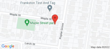 Location map for 9 Poplar Grove Langwarrin