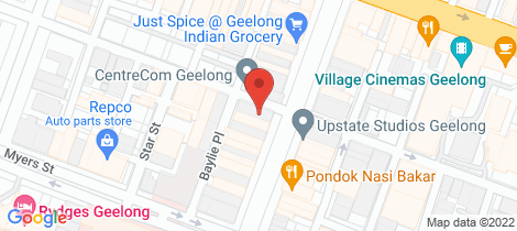 Location map for 182-184 Moorabool St & 52 Lt Ryrie St Geelong
