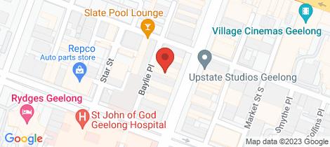 Location map for 192 Moorabool Street Geelong