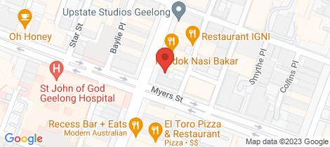 Location map for 229 Moorabool Street Geelong