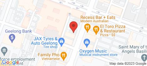 Location map for 230-232 Moorabool Street Geelong