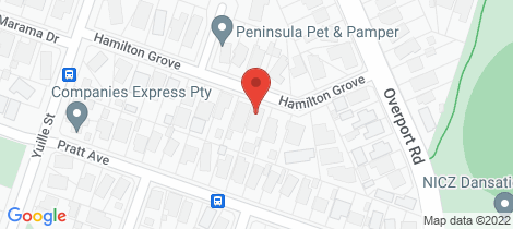 Location map for 20 Hamilton Grove Frankston South
