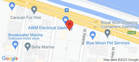 Location map for 252A Portarlington Road Moolap