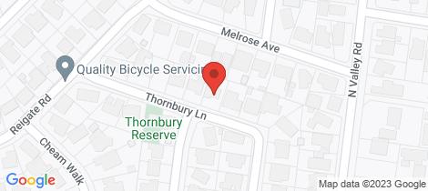 Location map for 10 Thornbury Lane Highton